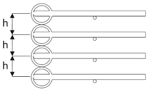Construction of drying racks - Distance rings