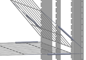 Construction of drying racks - Shelves mounting system