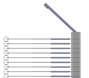 Construction of drying racks - Top limiter